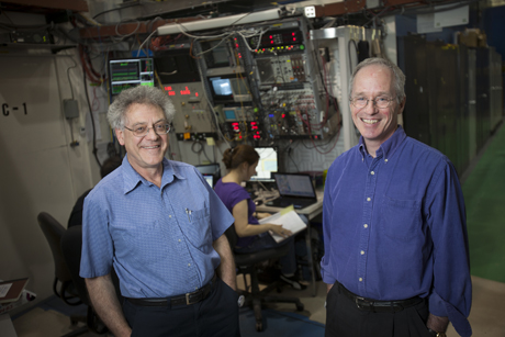 Jason Koski/University Photography:  Sol Gruner, left, and Joel Brock at the Cornell High Energy Synchrotron Source.
